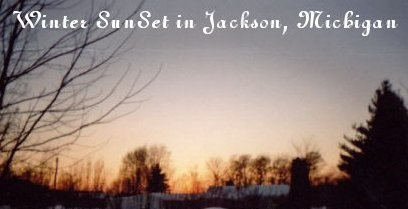 Winter Sunset in Michigan - This sunset picture was taken one winter evening by a 10 year old boy - my son.