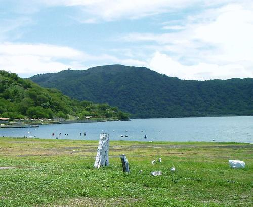 Caldera in Nicaragua - This is a photo of a caldera in Nicaragua, which has one very active Volcano, Volcan Masaya.