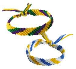 Friendship bracelets! - These are very similar to the friendship bracelets we made.