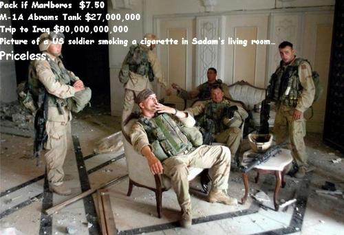 Priceless - A photo in Iraq with with US Soldiers