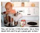 Baby In pot - So cute. Baby in pot taking a bath.