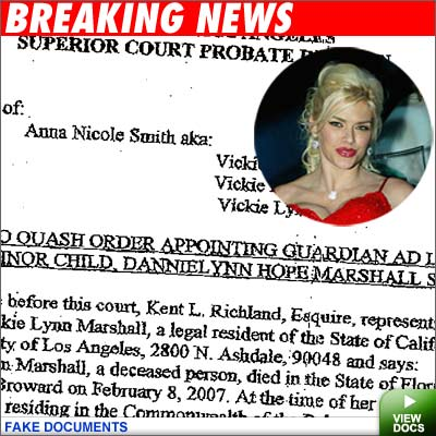 Anna Nicole Document a Fake - Anna Nicole Document a Fake Anna Nicole Document a Fake