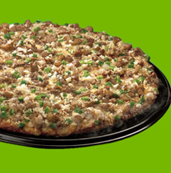 sisig pizza - sizzle of sisig and the appetizing crunch of ground chicharon in one superb pizza