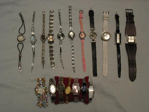 Take a look at my watches, I have 18 of them...... - Take a look at my watches, I have 18 of them. The big pink one is my favourite.