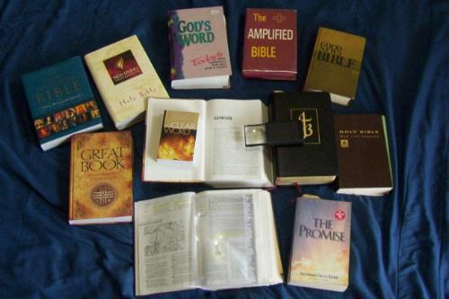 Bible Translations - Many translations of the Bible