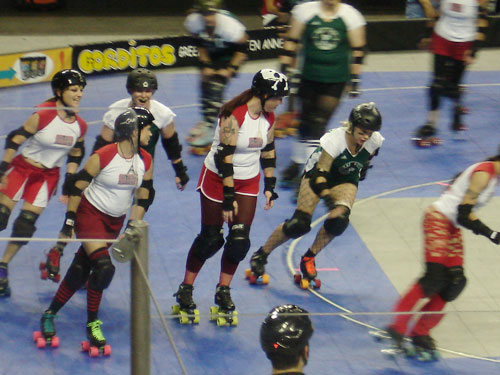 Roller derby - The big bad ladies of the roller derby.