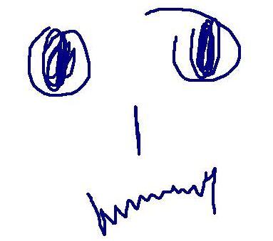 Insomnia - Sad face of someone having insomnia. I drew it myself! :P