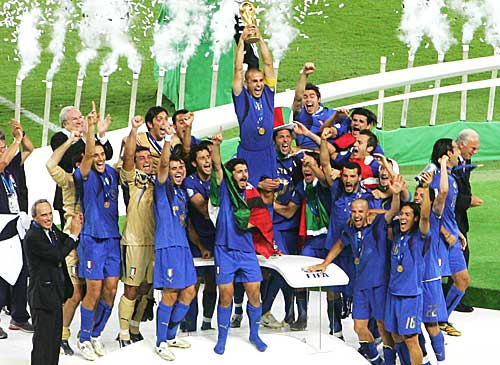 football of italy - on wining the worldcup of 2006