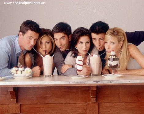 Friends Cast - Chandler, Monica, Rachel, Phoebe, Joey and Ross