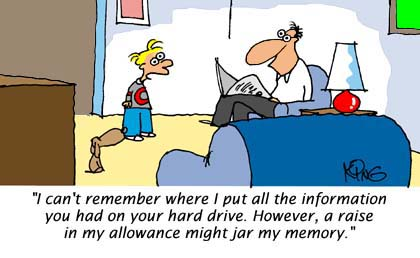 allowance - hi dad, how about giving me my allowance?