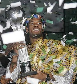 Drogba - African Footbaler of the Year.