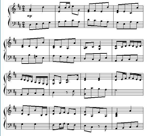 music score - This is a score I transcribed at Encore.