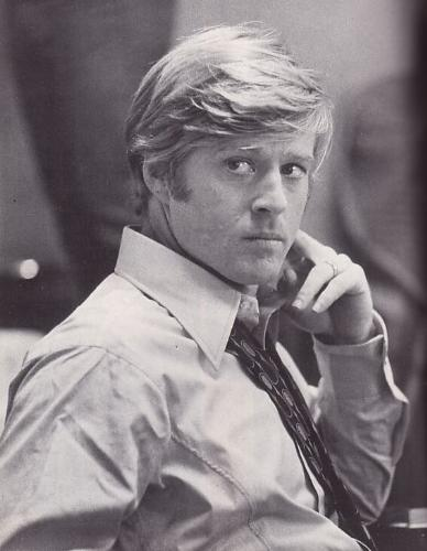 Robert Redford - Black and White image of Robert Redford from when he was around 30.