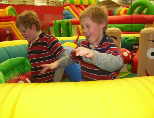 my twins - Matthew and Andrew having fun
