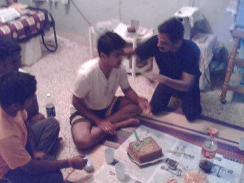 some people enjoying - celbrating birthday