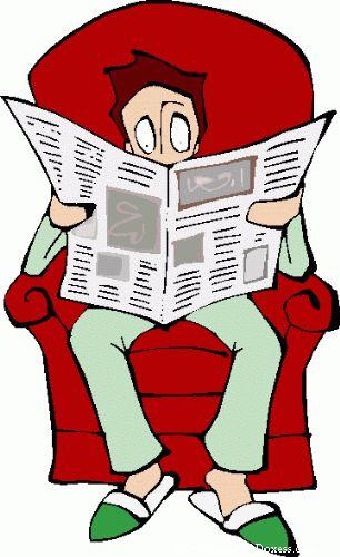 news - man reading a newspaper