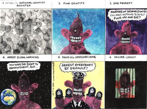 Tony Blairs legacy - Steve Bell political cartoonist for The Guardian on Tony Blair's legacy.