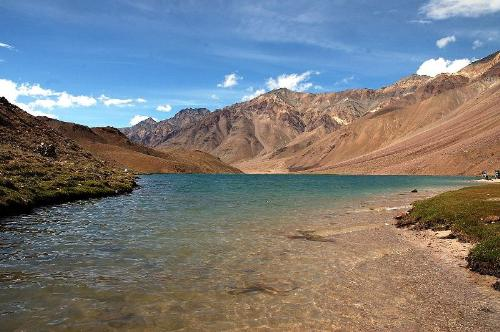 ChanderTaal Lake, India - This lake is in India at a height of 14000ft.