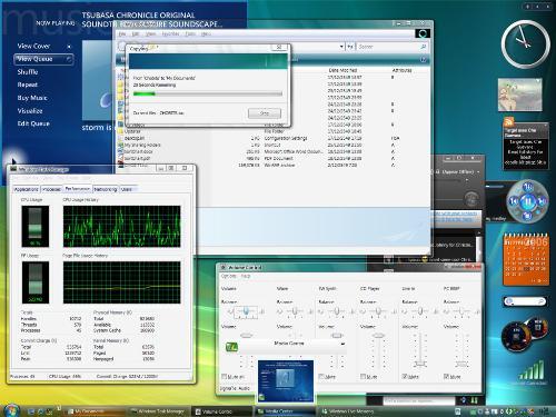 Vista Transformed Desktop - The looks of desktop after installing the vista transformation pack