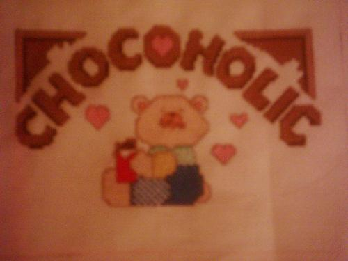my lattest - this is the last cross stitch i made from the book sorry the pictures not great though