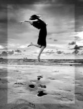 freedom of life - women running feeling free