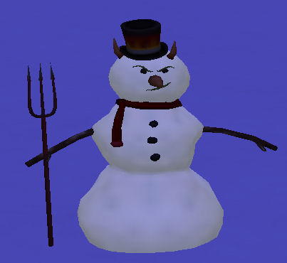evil snowman - The evil snowman from The Sims 2 Seasons