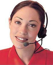 How long do you wait? - Picture of a hotline staff.