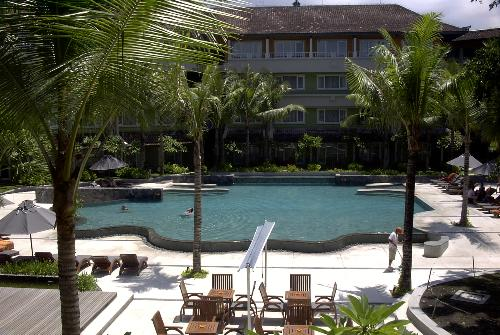 View from Harris Hotel in Bali (inside the complex - Great times in Bali! This was the Harris Hotel swimming pool!