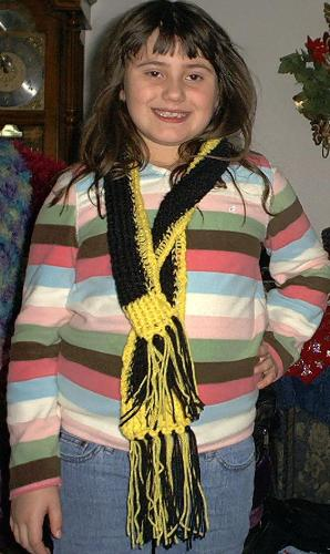 Loomed scarf - Loomed Pittsburgh color Scarf
