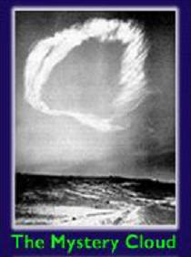 The Mystery Cloud - This is a picture of The Mystery Cloud appeared in the sky in 1963 in Arizona. This was also published in the Time Magzine on 17 May,1963. On seeing this picture carefully you can see the face of Jesus Christ.