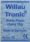 WillauTronic esmog chip - Protects you from damaging electromagnetic radiation emanating from your mobile phone.