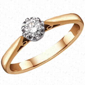 Diamond Solitaire Ring - Diamond's are a girl's best friend...but I'm not quiet sure why!!!