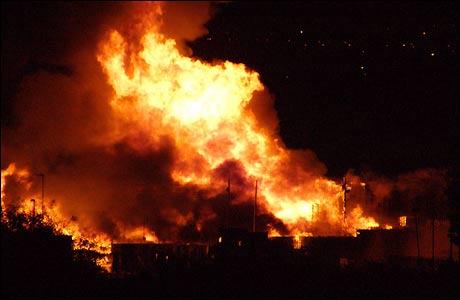 Fire - A house on fire