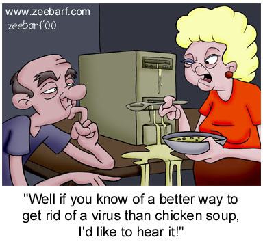 chicken soup vs. virus - use chicken soup on viruses