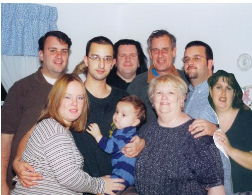 My family at Christmas 2001 - Right after 9/11