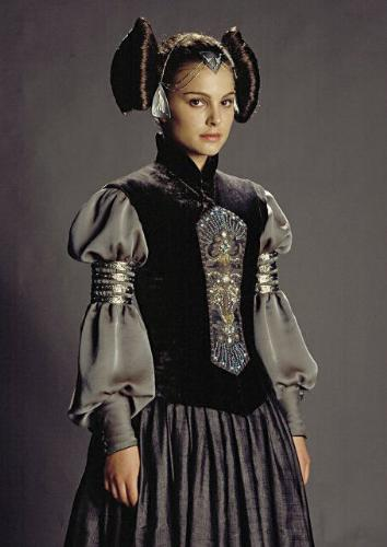 Padme - Padme Amidala, former queen of Naboo and senator of the Republic. She is Anakin Skywalker's secret wife and mother to their children Luke and Leia Skywalker.