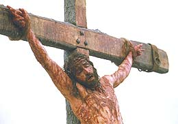 Passion of Christ - This is a scene from the movie, The Passion of Christ.. Jesus was nailed on the cross to die for our sins..