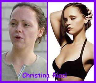 Christina Ricci without make-up - Christina Ricci without make-up haha