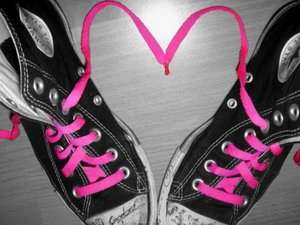 Converse love and heart - Converse lover and pink heart