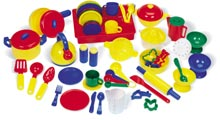 Kitchen Set - A picture of a kitchen set.. My favorite toy as a child..