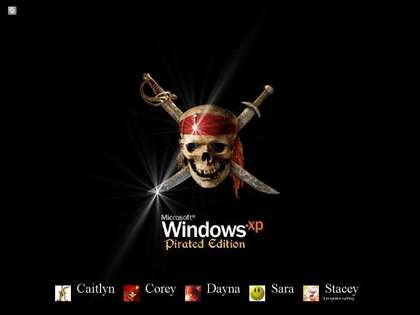 Pirated Windows - an image that displays the bad side of pirated operating systems