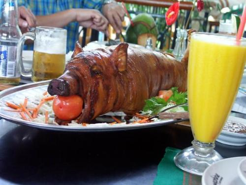 tasty lechon or roasted pig - getting myself a tasty lechon or the roasted pig/piglet for my birthday.