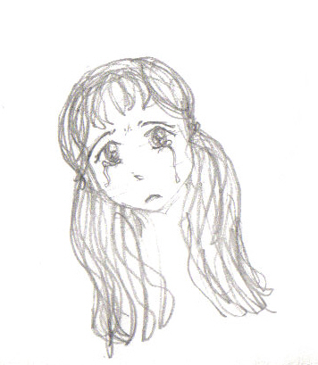 Crying - A sketch of a crying girl..