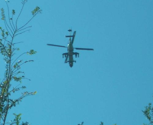 Hoppers Crossing helicopter - This chopper flew above our house today, there is an airshow this weekend.