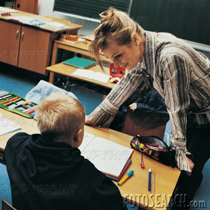 teacher - teacher and her student
