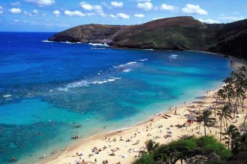 Hawaii - Beach, Hawaii, People, White Sand, Big Waves, Vacation, Leasure, Fun