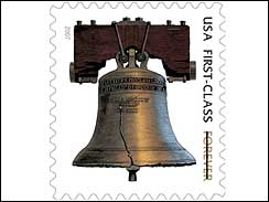 Liberty Bell - The liberty bell on the postage stamp