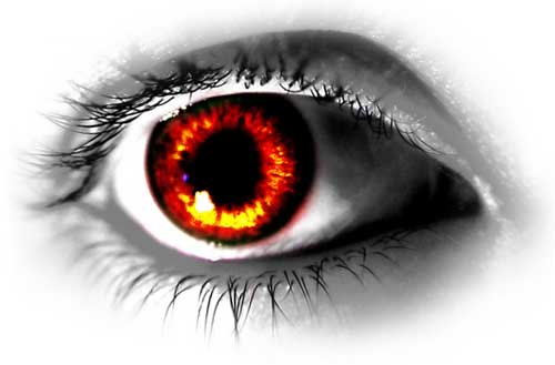 Eyeball - Red eyeball!