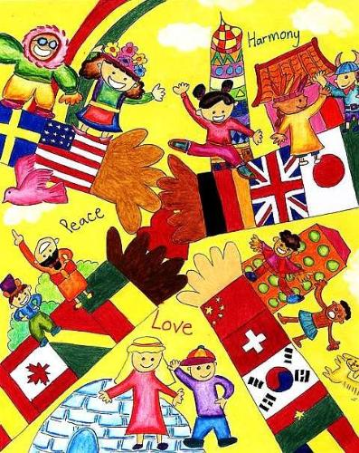 around the world - winner of the 2006 international day contest, very colorful