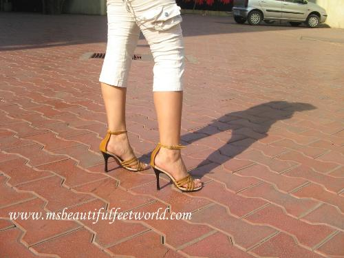 high heels - these are my own beautiful 4 inch high heels for Ms. Beautiful Feet World. How do u like them?